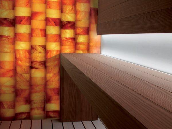 Cabina sauna au sel
