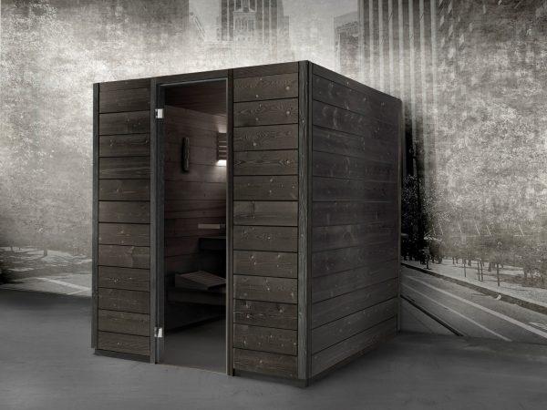 sauna country black