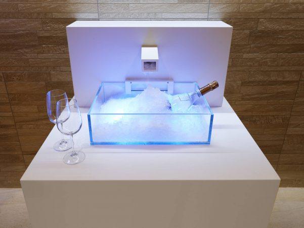 fontaine à glace sauna